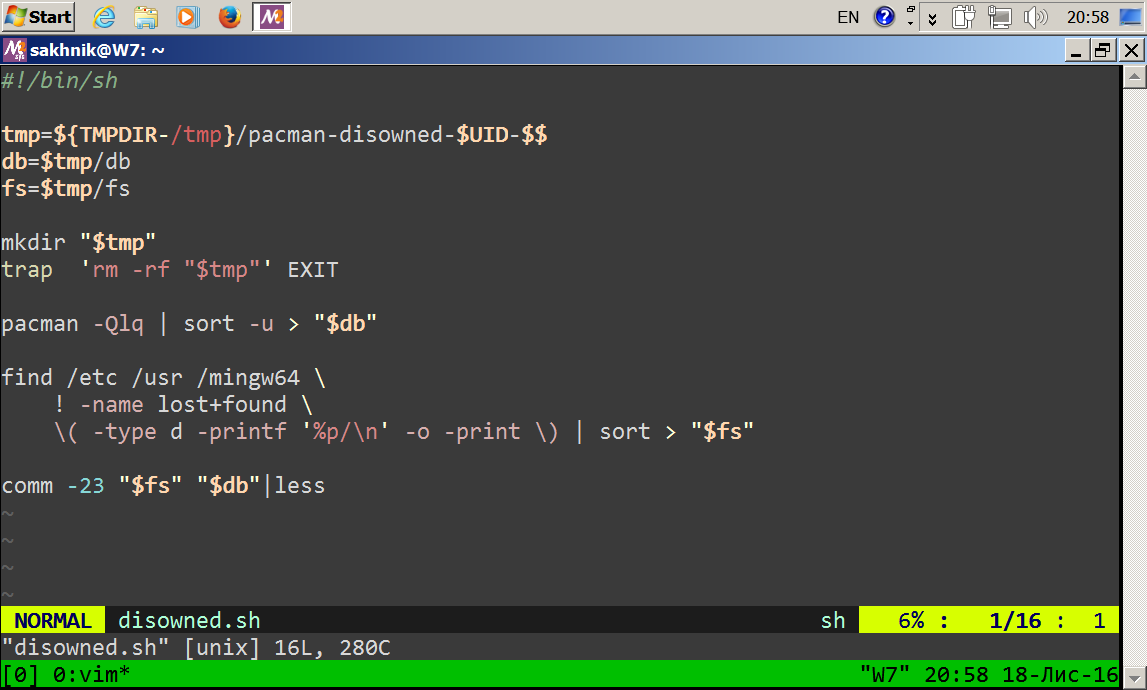MSYS2 in Windows7